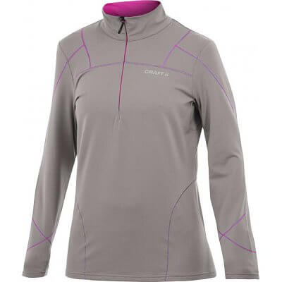 Mikiny Craft W Mikina Performance Thermal Stretch Pullover hnědá