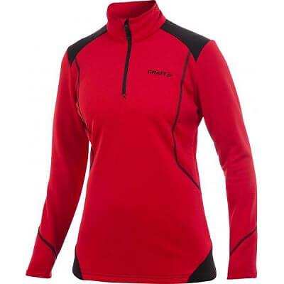 Mikiny Craft W Rolák Active Shift Free Pullover červená