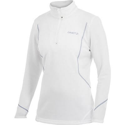 Mikiny Craft W Rolák Active Shift Free Pullover bílá