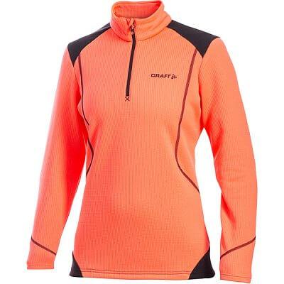 Mikiny Craft W Rolák Active Shift Free Pullover oranžová