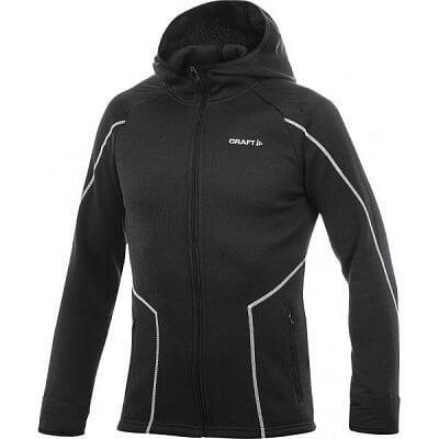 Craft Mikina Performance Warm Hood Jacket černá