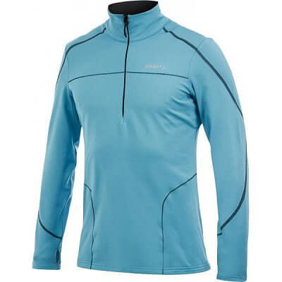 Mikiny Craft Mikina Performance Thermal Stretch Pullover zelená