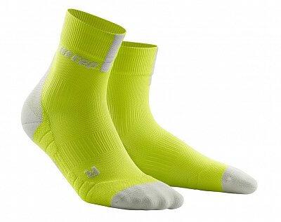 Ponožky CEP Krátké ponožky 3.0 pánské limetková / světle šedá
