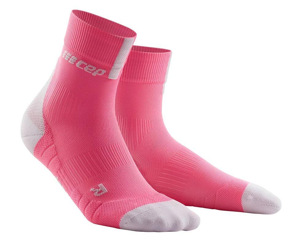 Ponožky CEP Krátké ponožky 3.0 dámské růžová rose / světle šedá