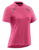 CEP Běžecké tričko s krátkým rukávem dámské růžová rose
