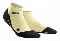 CEP Kotníkové ponožky FITNESS dámské pastelově žlutá