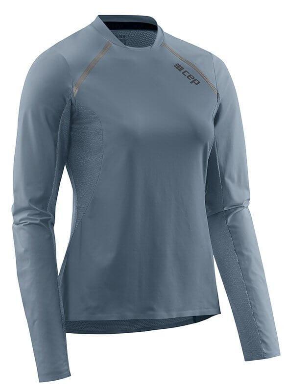 Trička CEP Běžecké tričko s dlouhým rukávem dámské šedá