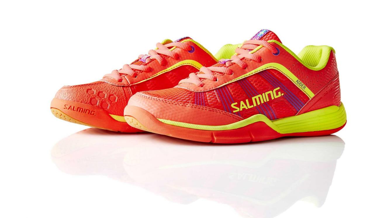 a0747d536cf53 Salming Adder Women Pink/Safety Yellow - dámske halové topánky ...