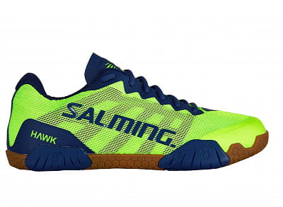 Halová obuv Salming Hawk Shoe Men Fluo Green/Limoges Blue