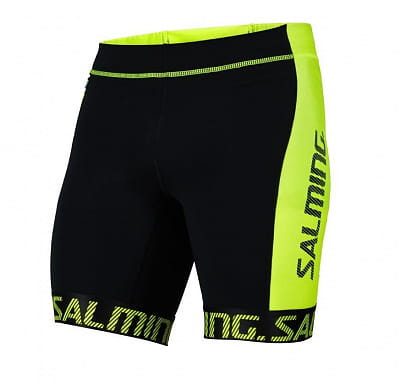 Kraťasy Salming Triathlon Shorts Men Black/Yellow
