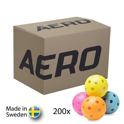 Míče Salming Aero Floorball Colours 200-pack