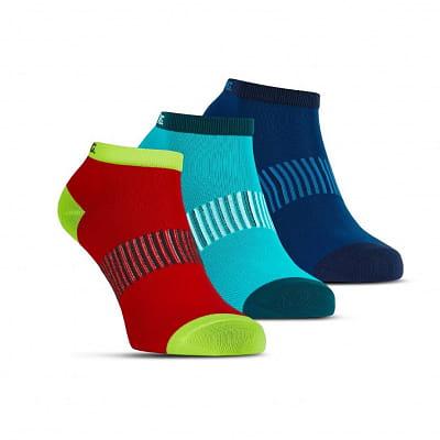 Ponožky Salming Performance Ankle Sock 3p Blue/Red/Lapis
