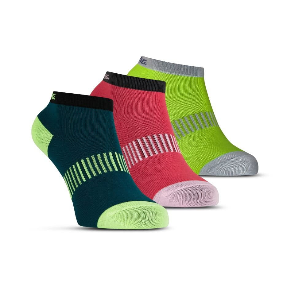 Ponožky Salming Performance Ankle Sock 3p Teal/Yellow/Red