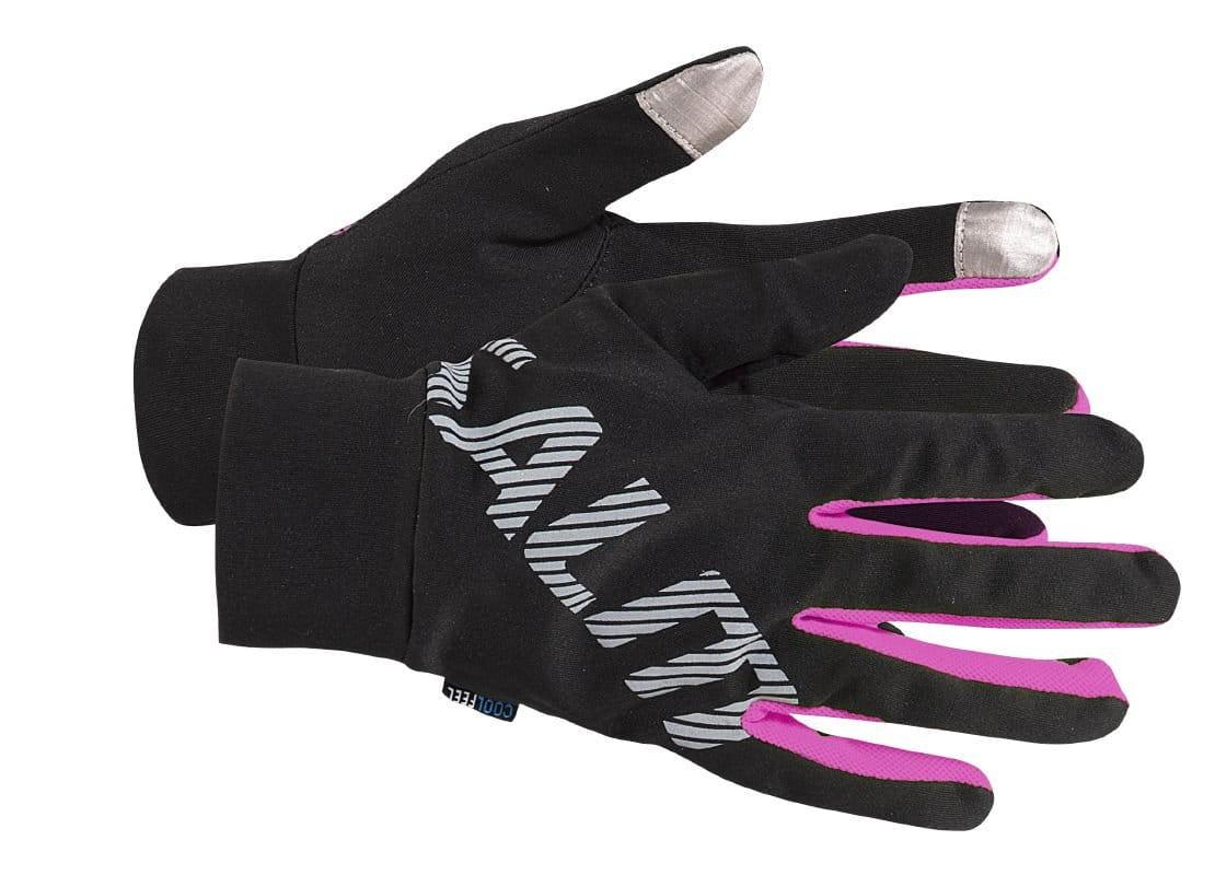 Rukavice Salming Running Gloves Black/Pink Glo