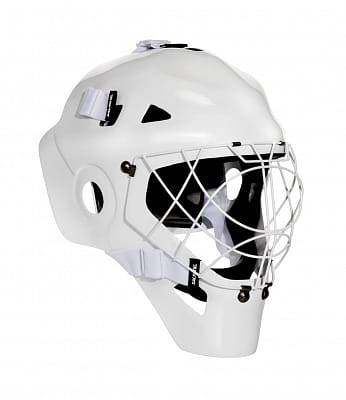 Florbalové vybavení Salming CarbonX Custom Helmet White