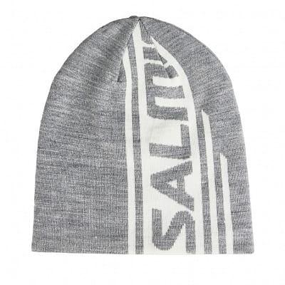 Čepice Salming Logo Beanie 2.0 Grey Melange