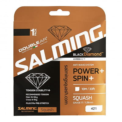 Squashové rakety Salming Black Diamond String Black Single