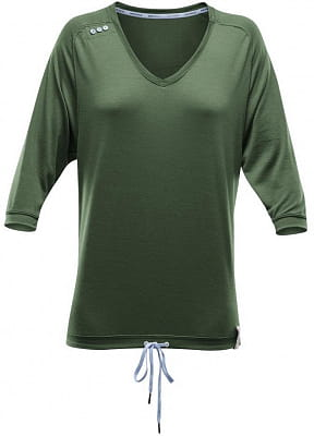 Volné dámské triko s3/4 rukávem ze 100% Merino Devold Aspoy Woman 3/4 Sleeve