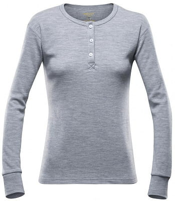 Dámské triko sdlouhým rukávem a knoflíčky ze 100% Merino Devold Nature Woman Button Shirt