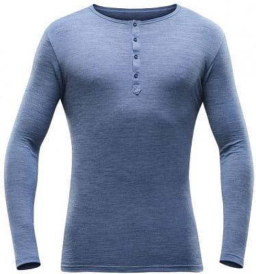 Pánske vlnené tričko s dlhým rukávom Devold Hessa Man Button Shirt