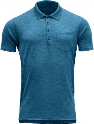 Pánske vlnené tričko Devold Grip Man Pique Shirt W/Pocket