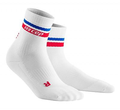 Ponožky CEP Krátké ponožky RETRO (80. léta) pánské bílá/červená&modrá