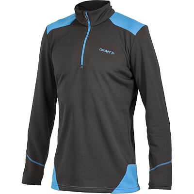 Mikiny Craft Rolák Active Shift Free Pullover černá s modrou