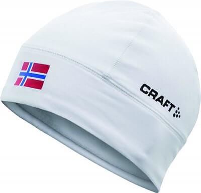 Čepice Craft Čepice Light Thermal Flag - s vlajkou bílá Norsko