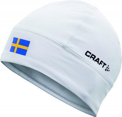 Čepice Craft Čepice Light Thermal Flag - s vlajkou bílá Švédsko