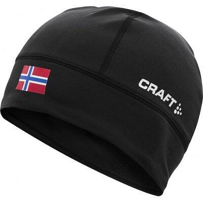 Čepice Craft Čepice Light Thermal Flag - s vlajkou černá Norsko