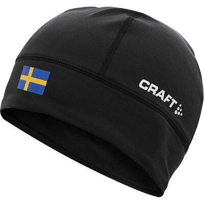 Čepice Craft Čepice Light Thermal Flag - s vlajkou černá Švédsko