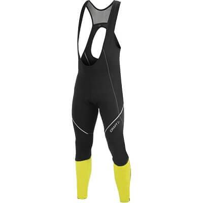 Kalhoty Craft Cyklokalhoty PB Storm Bib černá se žlutou