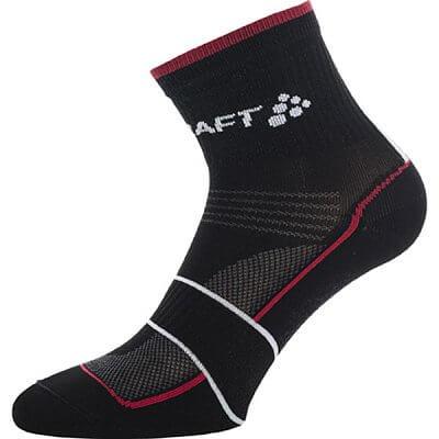 Ponožky Craft Ponožky Grand Tour Bike černá s červenou