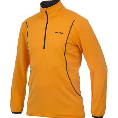 Mikiny Craft Rolák Lightweight Stretch Mesh Pullover oranžová