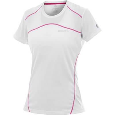 Trička Craft W Triko PR bílá s růžovou