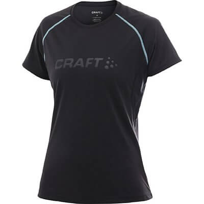 Trička Craft W Triko AR černá s sv.zelenou