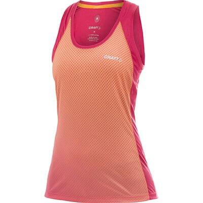 Trička Craft W Nátělník PR Sublimated oranžová s růžovou