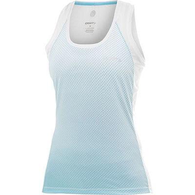 Trička Craft W Nátělník PR Sublimated bílá s sv.modrou