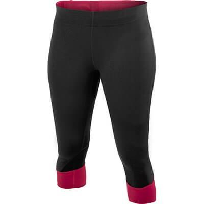 Kalhoty Craft W Kalhoty PR Capri černá s růžovou