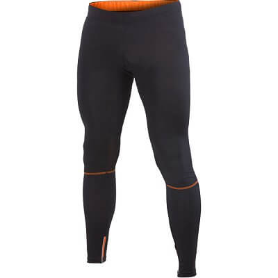 Kalhoty Craft Kalhoty Devotion Tights černá s oranžovou