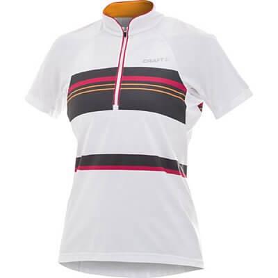 Craft W Cyklodres PB Stripe bílá