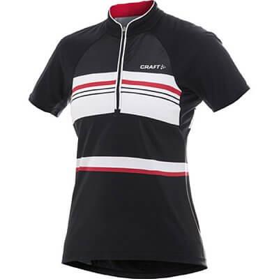 Trička Craft W Cyklodres PB Stripe černá