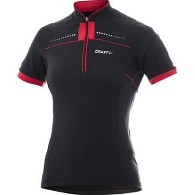 Trička Craft W Cyklodres AB černá s červenou