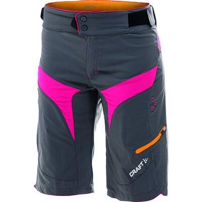 Kraťasy Craft W Cyklokalhoty Trail boxerky s vložkou šedá s růžovou