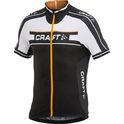 Trička Craft Cyklodres Grand Tour černá s oranžovou
