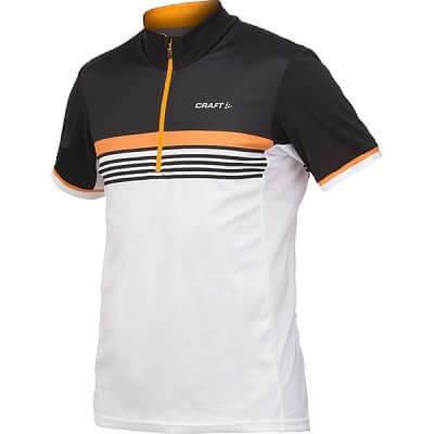 Trička Craft Cyklodres PB Stripe černá s oranžovou