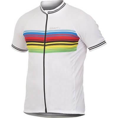 3099c78592eb8 Craft Cyklodres Classic Champ biela-viacfarebná - pánske tričko ...