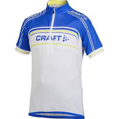Trička Craft Cyklodres Logo bílomodrá