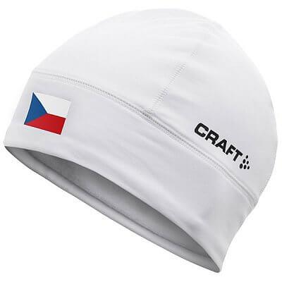 Čepice Craft Čepice Light Thermal Flag - s vlajkou bílá Česko