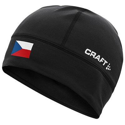 Čepice Craft Čepice Light Thermal Flag - s vlajkou černá Česko